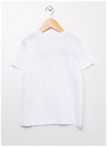 Benetton Benetton 322113096C151T Baskılı Erkek T-Shirt Beyaz